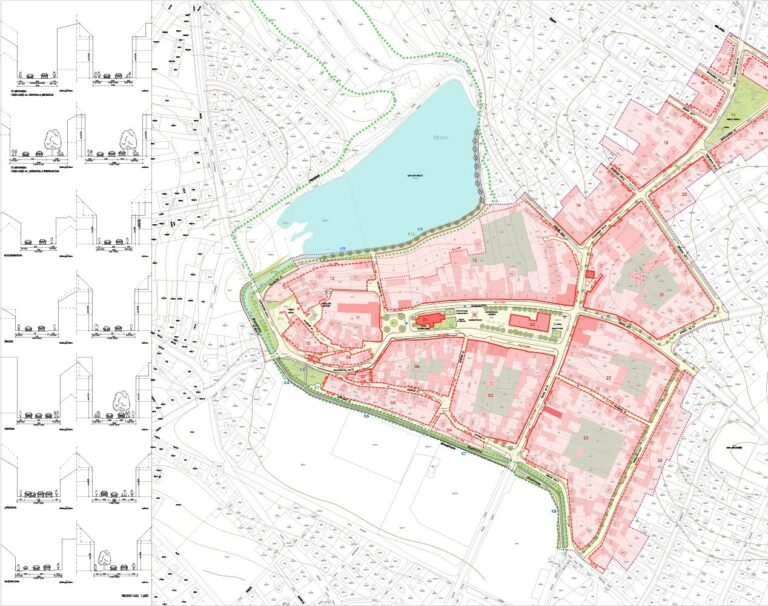 Master plan of Říčany town center