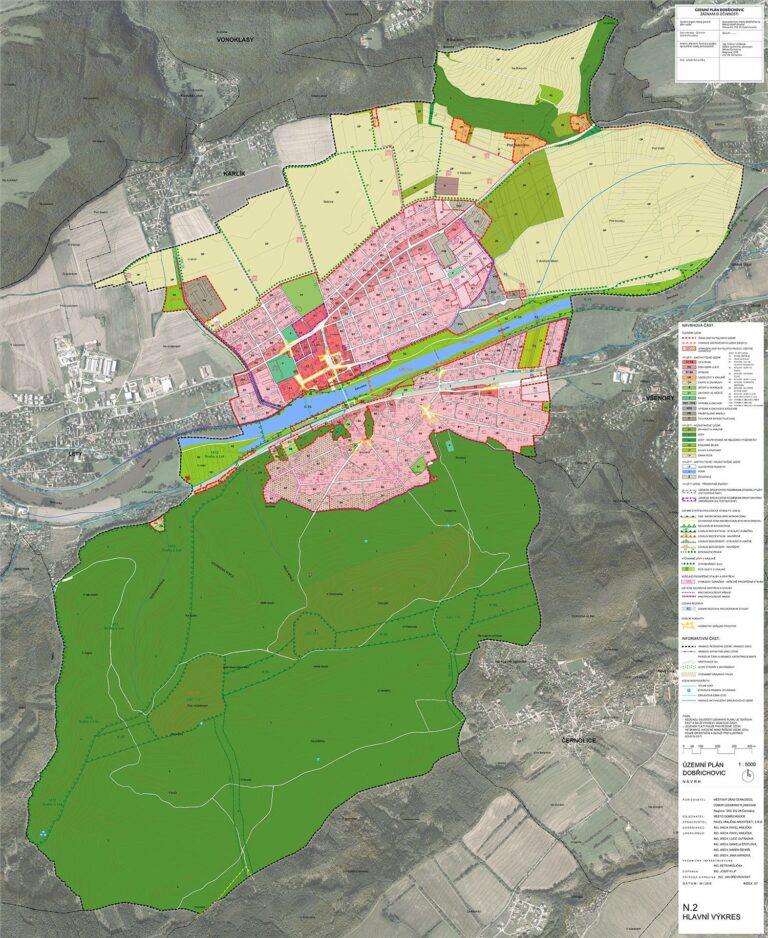 Urban plan of Dobřichovice